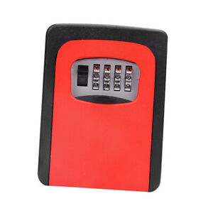 Outdoor Security Key Storage Lock Box Case Wall Mount Holder Password Key