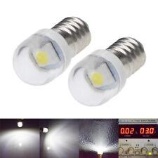 2 x E10 Screw Base 2835 SMD 1 LED 3V C/D Torch Flashlight Bulb Cold White 6000K