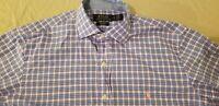 Mens Polo Ralph Lauren Dress Shirt S Small Blue Button Cotton