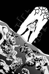Vampirella The Dark Powers # 5 Jonathan Lau 1 in 7 B&W Virgin Variant Cover  NM+