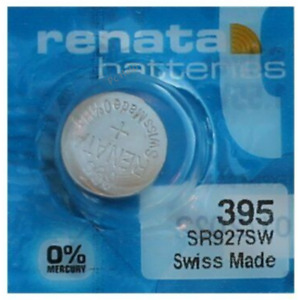 Pile pour montre Renata SR927SW 395 AG7 SR927 SR57 pile bouton 0% mercure Swatch