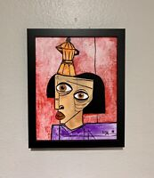 """PAINTING ORIGINAL OIL ON CANVAS (FRAME INCLUDED) CUBAN ART  8""""X10"""" By LISA."""