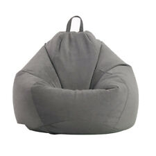 Lazy Sofa Living Room Without Filler Adults Kids Soft Corduroy Bean Bag Cover