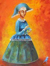 "Original painting Oil on canvas 20x16"" CONTEMPORARY ART surrealism"
