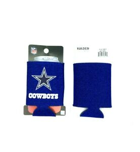 DALLAS COWBOYS BLUE GLITTER CAN COOLERS KOOZIES 2PACK