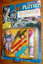 MEGA RARE CARDED PLOTTER ACTION FIGURE by FUN TECH 1980's CARDED SEALED MOC
