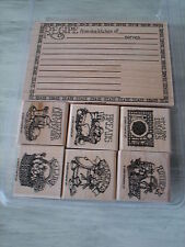 STAMPIN UP Recipe Set 7 Bread Desserts Salads Main Dishes Card Rubber Stamps 25N