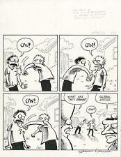 SHANNON WHEELER Too Much Coffee Man ORIGINAL COMIC ART +Signed+