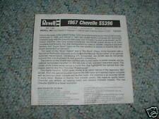 Revell1/25 1967 Chevelle SS396  Instructions  E