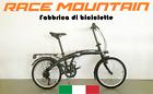 Bici Race Pieghevole Folding 20 UnisexAdulto, 6V, Pedali Pieghevoli, Nera