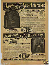 1931 PAPER AD 4 PG Imperial Console Table Wood Radio 7 Tube Radios RCA