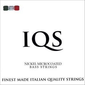 IQS NICKEL STEEL 4-STRING MICROCOAT BASS MEDIUM GAUGE 45-105 ITALIAN QUALITY!