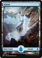 MTG Magic - (L) Battle for Zendikar - Island #257 FULL ART FOIL - NM/M