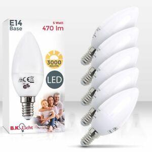 5x Ampoule LED E14 ampoule d'économie d'énergie 5W forme bougie