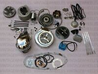 LAMBRETTA 175cc ALLOY POLISHED CYLINDER KIT & LI LIGHT WEIGHT ELECTRONIC kit