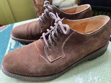 Men's Ferragamo 8.5 D Brown Suede Lace Up Shoes Vintage