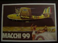 CARTOLINA MACCHI MC - 99 IDROVOLANTE DA RICOGNIZIONE E BOMBARDAMENTO N.748