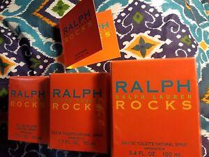 Ralph Lauren ROCKS .03 oz 1 oz 1.7 oz 3.4 oz EDT Eau De Toilette NEW IN BOX