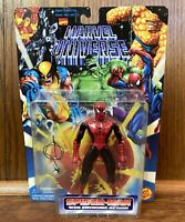 Spider-Man Vintage Marvel Universe Action Figure New 1996 Toybiz 90s Black Red
