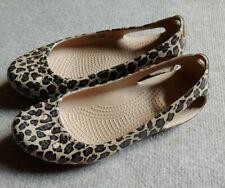 Crocs Kadee Women's Size 6 Leopard Print Ballet Flat Slip On Croslite Shoes