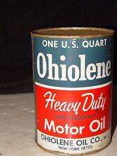 Rare Vintage Orig Full 1 Quart Ohiolene New York Advertising Motor Oil Can Nos