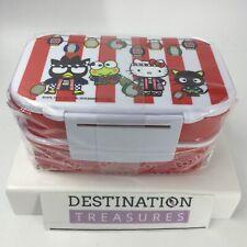 Cost Plus World Market X Hello Kitty 45th RED XL Omatsuri Bento Box Utensils