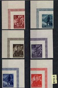 Croatia WW2 1944 - normal issue and proofs in different colors RR !