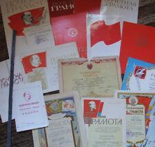 Konvolut 15 Stuck LENIN Ehrenurkunde Kommunismus UdSSR Sowjetunion Urkunde RAR