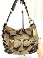 Coach Hobo Shoulder Bag Purse Gold Hardware Leather Strap 10619