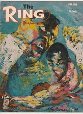 THE RING MAGAZINE DICK TIGER-BOB FOSTER BOXING HOFers COVER APRIL 1968