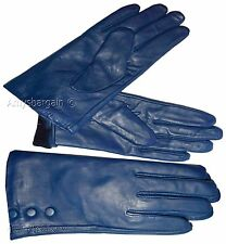Ladies Gloves. Size (M). Red Leather winter Gloves. Leather Dress gloves BR New