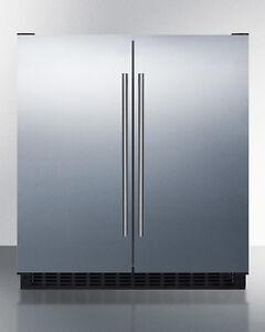 """Summit FFRF3075WSS 30"""" 5.4 CuFt French Door Refrigerator Freezer Stainless Steel"""