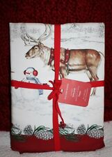"WILLIAMS-SONOMA SNOWMAN TABLECLOTH - 70"" X 108"""