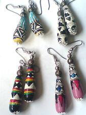 Superbe Peint Main Peruvian Boucles d'oreilles pendantes en 4 DESIGNS Seulement £ 3.99 chaque Neuf avec étiquettes