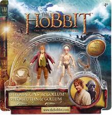 The Hobbit Bilbo Baggins & Gollum Action Figures 10cm/3.94' Set New Official