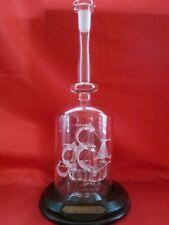 Lichfield Glass Sculpture Ship in a Bottle the Santa Maria Hand Made England