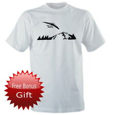 HANG GLIDING PILOT Hang Glider Mountains Forest Flying Sport Mens T-Shirt Size S