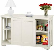 Traditional Sideboard Buffet Storage Cabinet Sliding Doors Dining Room Furniture