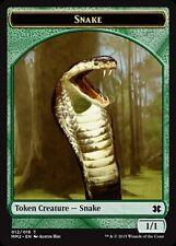 4x TOKEN Serpente 1/1- Snake MTG MAGIC MM2 Modern Masters 2015 Eng