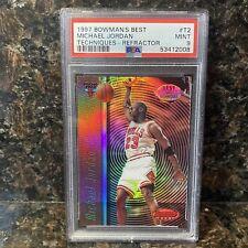 1997 Bowman's Best Michael Jordan  Refractor Techniques PSA 9 Mint #T2
