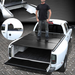 FOR 07-18 TOYOTA TUNDRA 6.5FT BED ALUMINUM FRAME TRI-FOLD HARD TONNEAU COVER