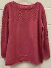 Saks Fifth Avenue 100% Cashmere Knit Hot Pink Sweater Size XL
