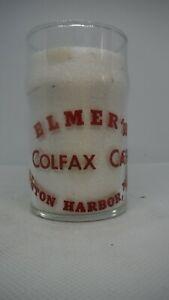 Vintage Restaurant Water Glass - Elmer's Colfax Cafe - Benton Harbor, Michigan