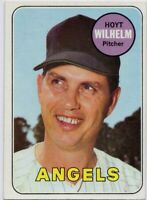 1969 Topps #565 Hoyt Wilhelm Near Mint + California Angels FREE SHIPPING