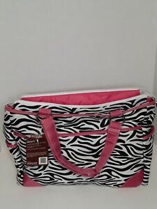 Carters Diaper Bag w/Changing Mat Zebra Brand New