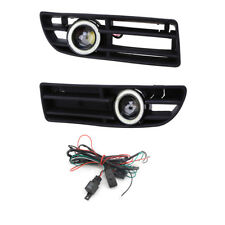 Pair Car FOG Light White Angel Eyes COB LED FOR VW JETTA BORA MK4 99-04 Bumper