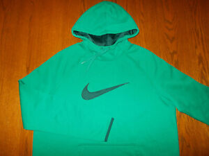 NIKE DRI-FIT GREEN HOODED SWEATSHIRT WOMENS XL EXCELLENT CONDITION
