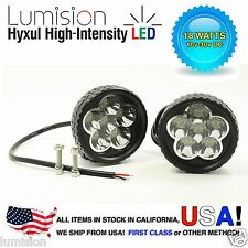 "Lumision Hyxul 18W 3"" Round PAIR Spot High Intensity LED Light Fog Lamp Truck"