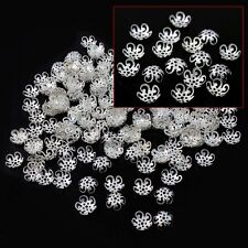 Wholesale Gold & Silver Plated Flower Bead Caps Jewelry Make Findings 10MM