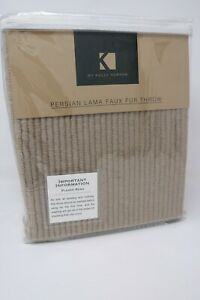 K by Kelly Hoppen Soft Ribbed Throw Beige Brand New RRP £40